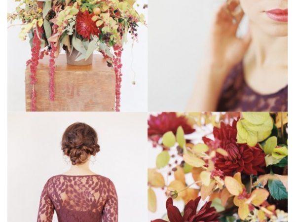 ดอกไม้งานแต่งงานในฤดูใบไม้ร่วงที่อุดมสมบูรณ์